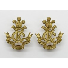 Pair of King's Colonials Gilt Collar Badges