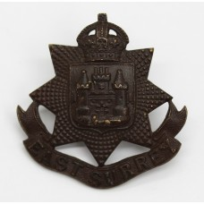 East Surrey Regiment Officer's Service Dress Cap Badge - King's C