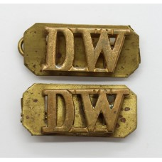 Pair of Duke of Wellington's Regiment (D.W.) Shoulder Titles