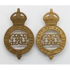 Pair of Grenadier Guards Shoulder Titles - King's Crown