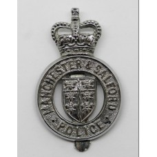 Manchester & Salford Police Cap Badge - Queen's Crown