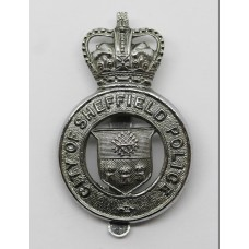 Sheffield City Police Cap Badge - Queen's Crown