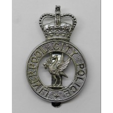 Liverpool City Police Cap Badge - Queen's Crown
