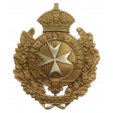 Victorian Royal Malta Militia Cap Badge