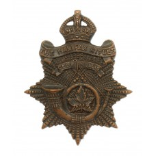 Canadian The Halifax Rifles Cap Badge - King's Crown