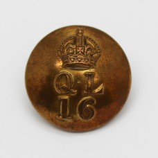 16th Queen's Lancers Officer's Button - King's Crown (Large)
