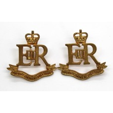 Pair of Military Provost Staff Corps Collar Badges - Queen's Crown