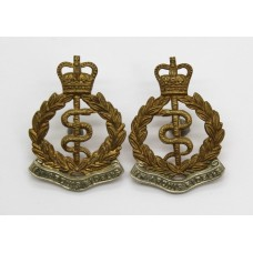 Pair of Royal Army Medical Corps Collar Badges - Queen's Crown