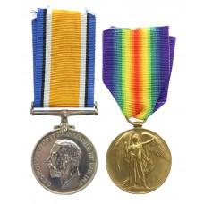 WW1 British War & Victory Medal Pair - Pte. D. Gittings, Devonshire Regiment
