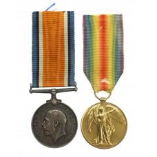 WW1 British War & Victory Medal Pair - Pte. F.R. Jones, Royal Army Medical Corps