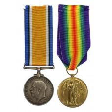 WW1 British War & Victory Medal Pair - Pte. C.W. Harris, Glou