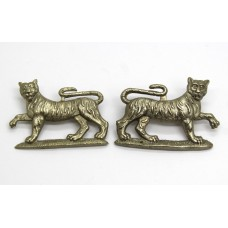 Pair of Gordon Highlanders Collar Badges
