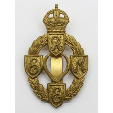 Royal Electrical & Mechanical Engineers (R.E.M.E.) Cap Badge - King's Crown (1st Pattern)