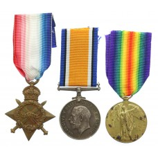WW1 1914-15 Star Medal Trio - Pte. J. Brannelly, South Lancashire