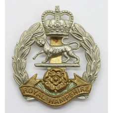 Royal Hampshire Regiment Cap Badge - Queen's Crown