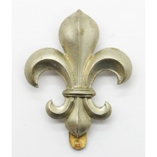 Manchester Regiment White Metal Cap Badge