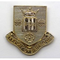 University of Sheffield O.T.C. Anodised (Staybrite) Cap Badge