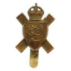 Royal Jersey Light Infantry Cap Badge - King's Crown