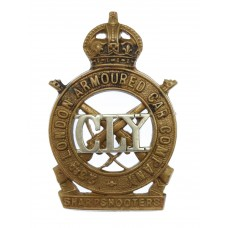 23rd London Armoured Car Company County of London Yeomanry Cap Badge - King's Crown