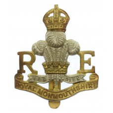Royal Monmouthshire Royal Engineers (Militia) Cap Badge - King's Crown