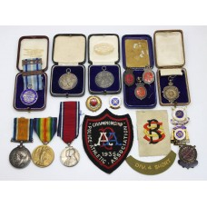 WW1, 1935 Silver Jubilee and Royal Life Saving Society Distinguished Service Medal Group - Pte. J. Keough, Royal Army Medical Corps & Salford City Police