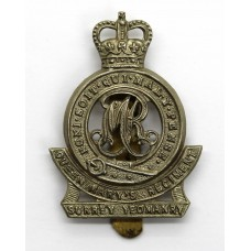 Surrey Yeomanry (Queen Mary's Regiment) Cap Badge - Queen's Crown