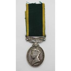 George VI Territorial Efficiency Medal - Spr. F.G. Webster, Royal