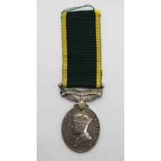 George VI Territorial Efficiency Medal - Sjt. F. Thrower, Royal E