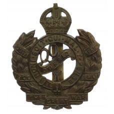 Queen's Own Dorset Yeomanry Cap Badge - King's Crown