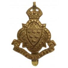 Sussex Yeomanry Cap Badge - King's Crown