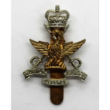 Mobile Defence Corps Cap Badge - Queen's Crown