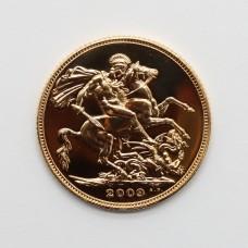 2009 Elizabeth II 22ct Gold Full Sovereign Coin