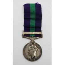 General Service Medal (Clasp - Palestine 1945-48) - Pte. D. Bokgo
