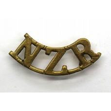 New Zealand Rifles (N.Z.R.) Shoulder Title