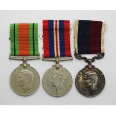 WW2 Defence Medal, War Medal and RAF Long Service & Good Conduct Medal Group - Sgt. W.W. Vaughan, Royal Air Force