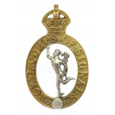 Royal Corps of Signals Officer's Dress Cap Badge - King's Crown (1st Pattern)