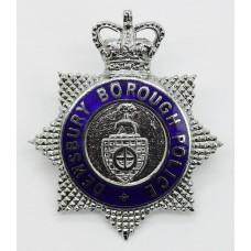 Dewsbury Borough Police Senior Officer's Enamelled Cap Badge - Queen's Crown
