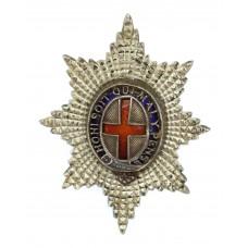 Coldstream Guards Officer's Silver & Enamel Cap Badge