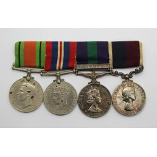 WW2, General Service Medal (Clasp - Cyprus) and RAF Long Service & Good Conduct Medal Group of Four - Sgt. L. Walker, Royal Air Force