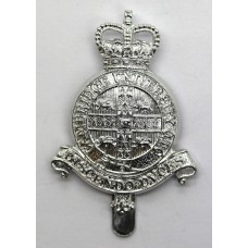 Cambridge University O.T.C. Anodised (Staybrite) Cap Badge - Queen's Crown