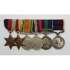 WW2, General Service Medal (Clasp - Arabian Peninsula) and RAF Long Service & Good Conduct Medal Group of Six - F.Sgt. H.H. Dudley, Royal Air Force