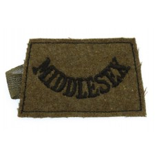Middlesex Regiment (MIDDLESEX) WW2 Cloth Slip On Shoulder Title