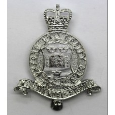 Oxford University O.T.C. Anodised (Staybrite) Cap Badge - Queen's Crown