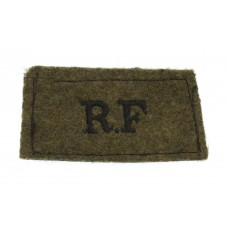 Royal Fusiliers (R.F.) WW2 Cloth Slip On Shoulder Title