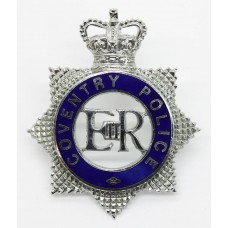 Coventry Police Senior Officer's Enamelled Cap Badge - Queen's Crown