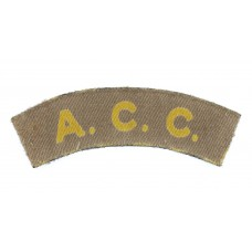 Army Catering Corps (A.C.C.) WW2 Printed Shoulder Title