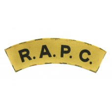 Royal Army Pay Corps (R.A.P.C.) WW2 Printed Shoulder Title