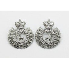 Pair of Berkshire Constabulary Collar Badges - Queen's Crown
