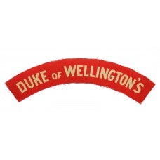 West Riding Regiment (DUKE of WELLINGTON'S) WW2 Printed Shoulder Title