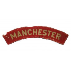Manchester Regiment (MANCHESTER) WW2 Printed Shoulder Title